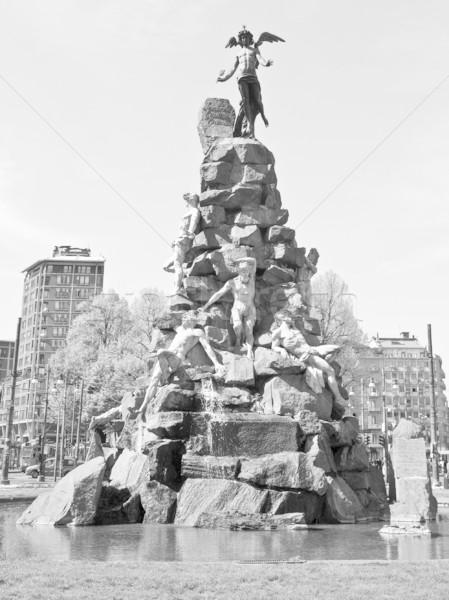 Traforo del Frejus statue, Turin Stock photo © claudiodivizia