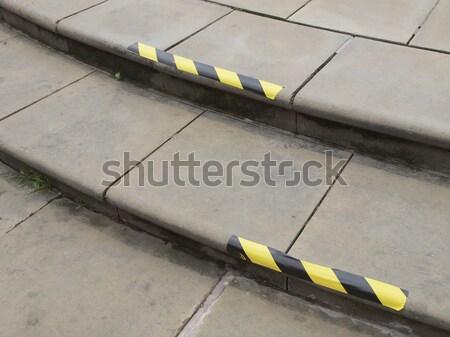 Klatka schodowa szczegół kroki schody niebezpieczeństwo Zdjęcia stock © claudiodivizia