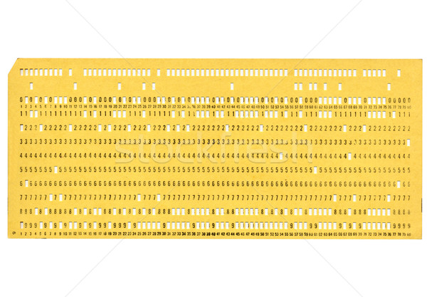 Punched card Stock photo © claudiodivizia