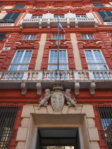 Palazzo Rosso in Genoa Italy Stock photo © claudiodivizia
