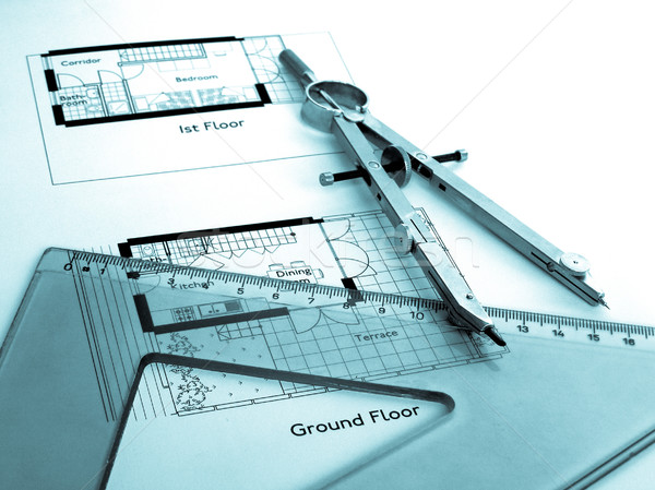 Technical drawing Stock photo © claudiodivizia