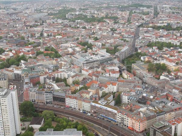 ストックフォト: ベルリン · 表示 · 市 · ドイツ · スカイライン