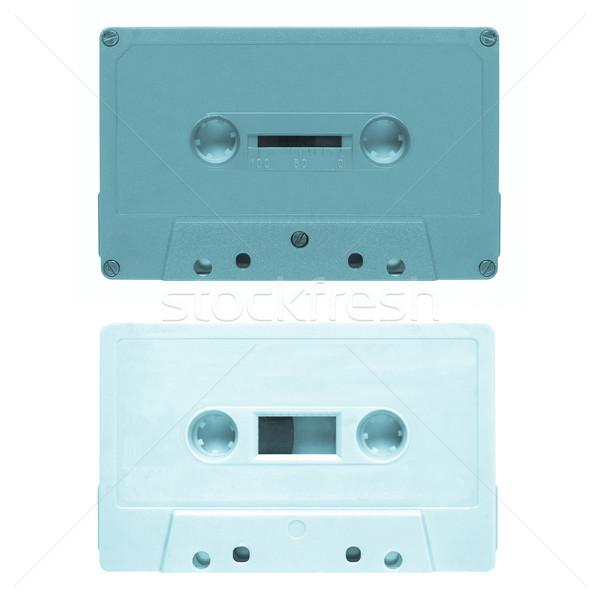 лента кассету магнитный аудио музыку изолированный Сток-фото © claudiodivizia
