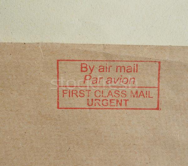 Sürgős első osztály levegő posta levél piros Stock fotó © claudiodivizia