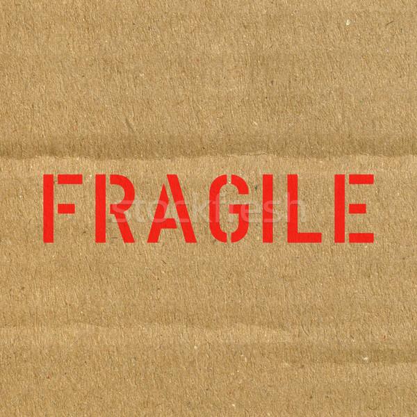 Fragile carton papier signe boîte expédition Photo stock © claudiodivizia