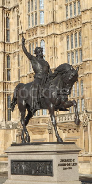 Richard The Lionheart statue Stock photo © claudiodivizia