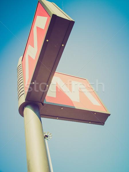 Retro néz metró felirat klasszikus néz Stock fotó © claudiodivizia