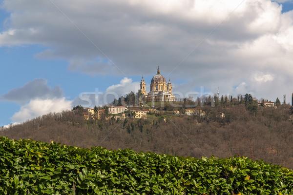 Bazylika barokowy kościoła Hill Włochy Zdjęcia stock © claudiodivizia