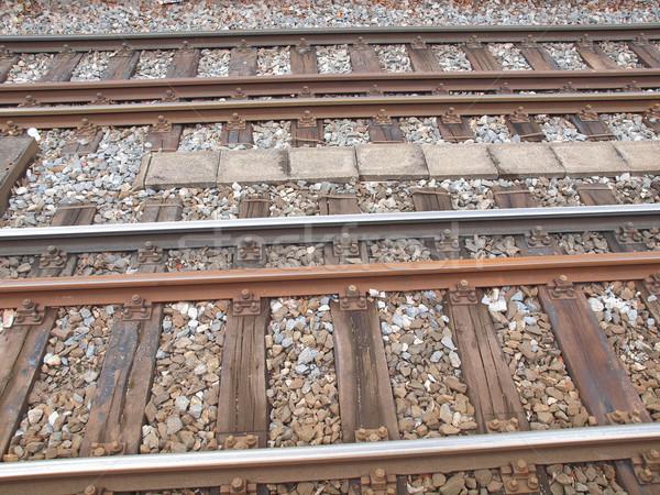 Kolej żelazna pociągu transport podróży metra Zdjęcia stock © claudiodivizia