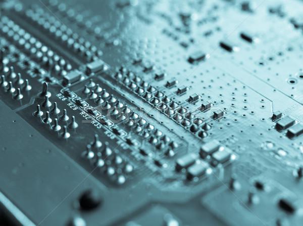 Imprimé circuit détail électronique mise au point sélective Photo stock © claudiodivizia