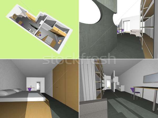 House interior model Stock photo © claudiodivizia