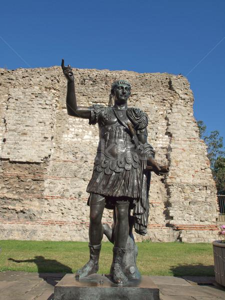 Imperador estátua antigo romano Londres arquitetura Foto stock © claudiodivizia