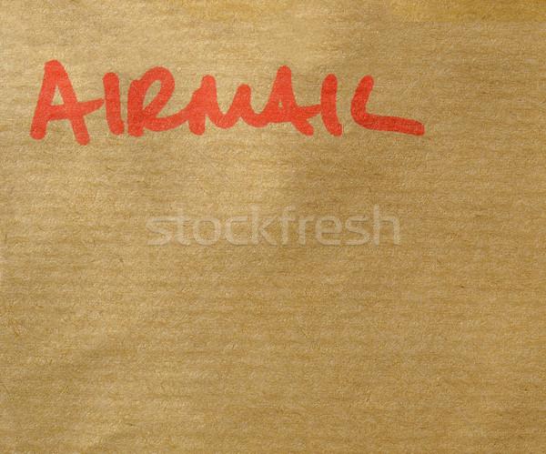 Luchtpost detail brief envelop post kantoor Stockfoto © claudiodivizia