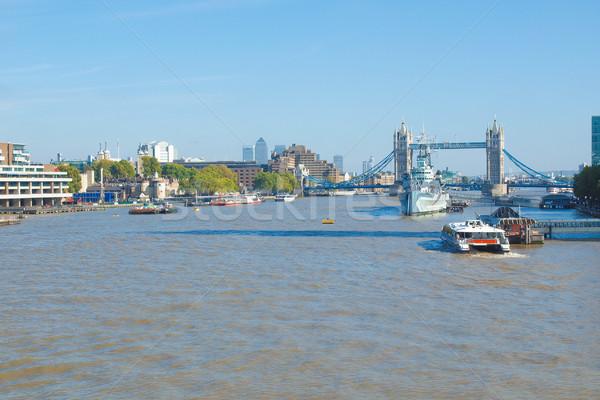 Rivière thames Londres panoramique vue banque Photo stock © claudiodivizia