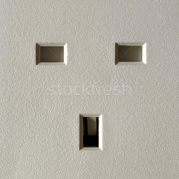 Foto stock: Britânico · plugue · soquete · poder · tecnologia · eletrônica