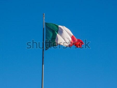 Drapeau italien Italie pavillon blanche objet Photo stock © claudiodivizia