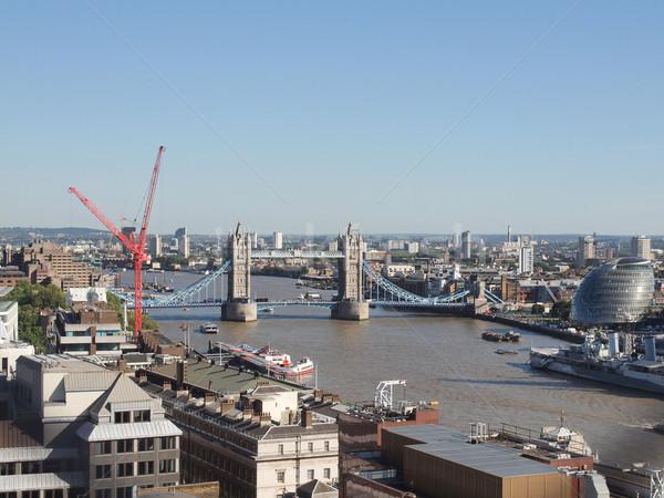 Tower Bridge Londres rivière thames eau Europe Photo stock © claudiodivizia