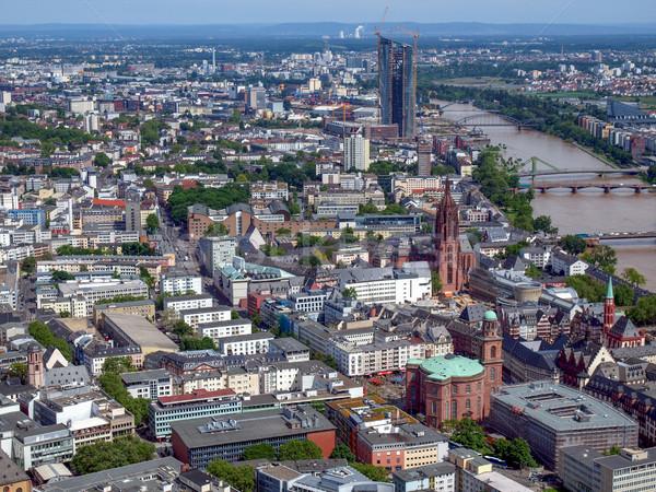 Frankfurt hoofd- Duitsland luchtfoto Stockfoto © claudiodivizia