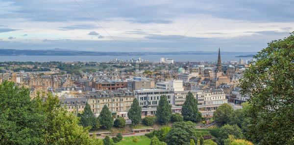 Edinburgh Szkocji widoku miasta panoramę panorama Zdjęcia stock © claudiodivizia