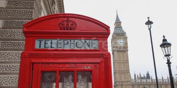 London Telefon Feld traditionellen rot Telefon Stock foto © claudiodivizia