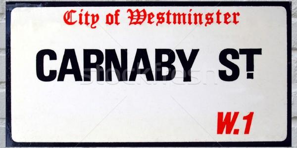 Jelzőtábla város Westminster London utca felirat Stock fotó © claudiodivizia