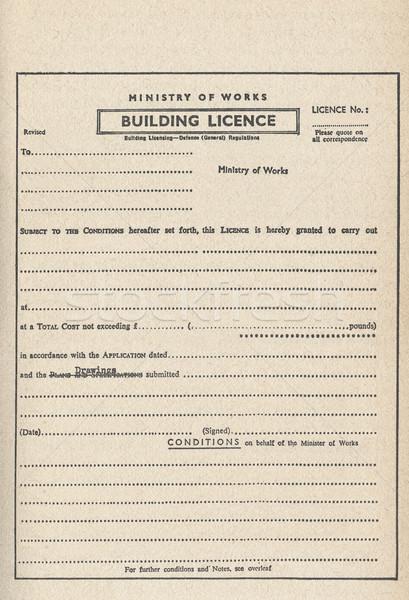 Bâtiment planification autorisation vintage construction Photo stock © claudiodivizia