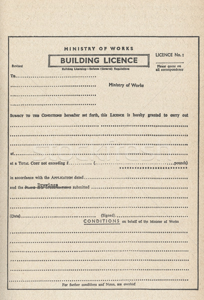 Gebouw planning toestemming vintage bouw Stockfoto © claudiodivizia