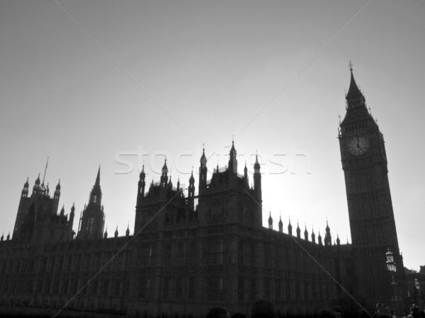 домах парламент гот ночь мнение силуэта Сток-фото © claudiodivizia