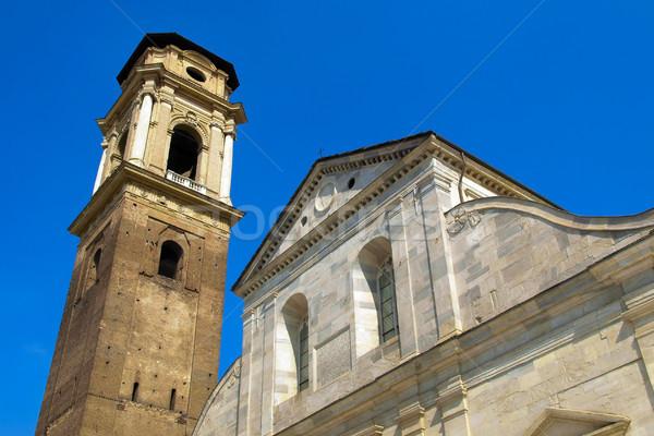 Kathedraal torino Italië blauwe hemel hemel Stockfoto © claudiodivizia
