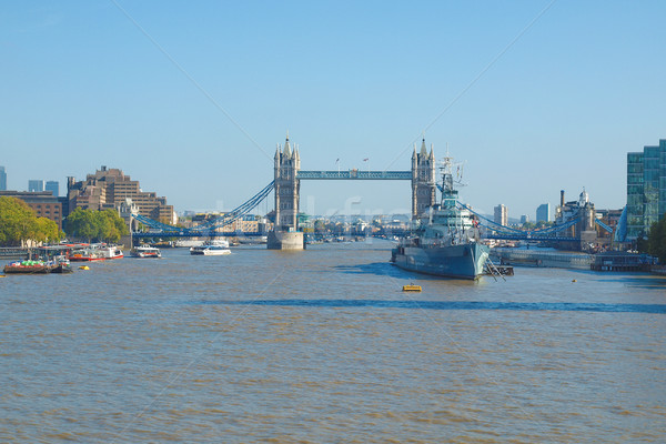 Folyó Temze London panorámakép kilátás bank Stock fotó © claudiodivizia
