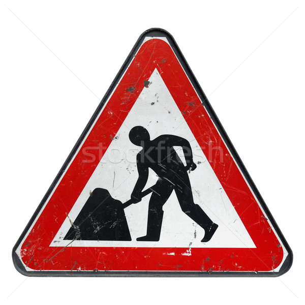 Roadworks sign Stock photo © claudiodivizia