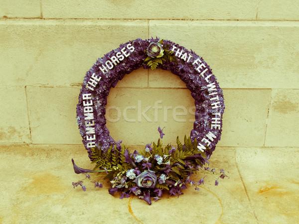 Retro looking The Cenotaph London Stock photo © claudiodivizia