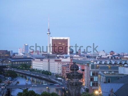 Folyó Temze London panorámakép kilátás Európa Stock fotó © claudiodivizia