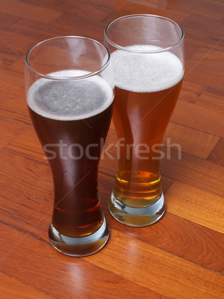 Two glasses of German beer Stock photo © claudiodivizia