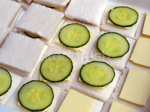 Сток-фото: огурца · сэндвич · традиционный · британский · масло · хлеб