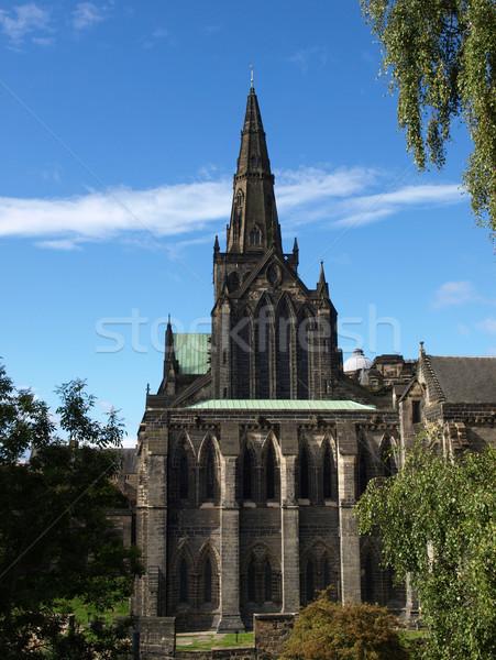 Glasgow cattedrale alto costruzione muro chiesa Foto d'archivio © claudiodivizia