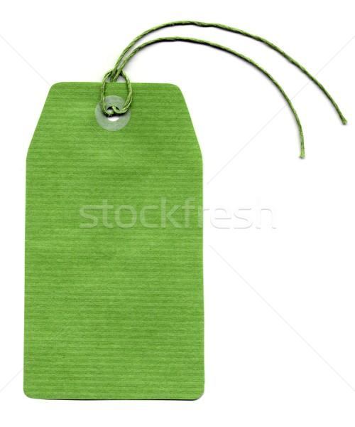 Tag etichetta prezzo indirizzo string business Foto d'archivio © claudiodivizia