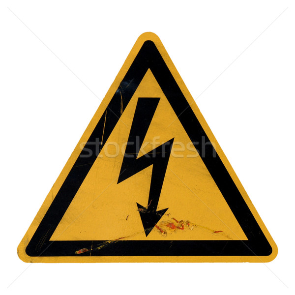 Stock photo: Danger of death Electric shock