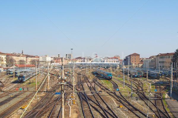 Porta Nuova station, Turin Stock photo © claudiodivizia