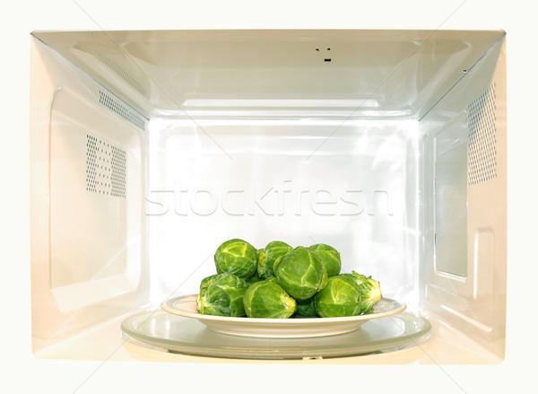 Magnetronoven oven detail golf witte Stockfoto © claudiodivizia