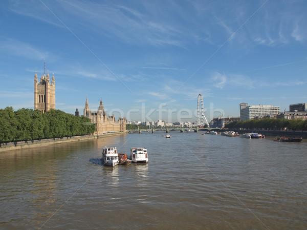 Maisons parlement westminster palais Londres gothique Photo stock © claudiodivizia