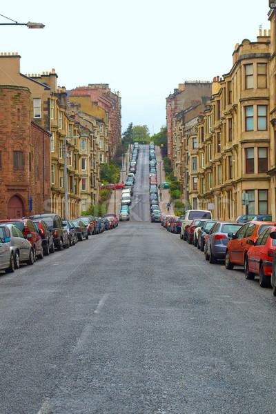 Glasgow Hill strada strada colline Foto d'archivio © claudiodivizia