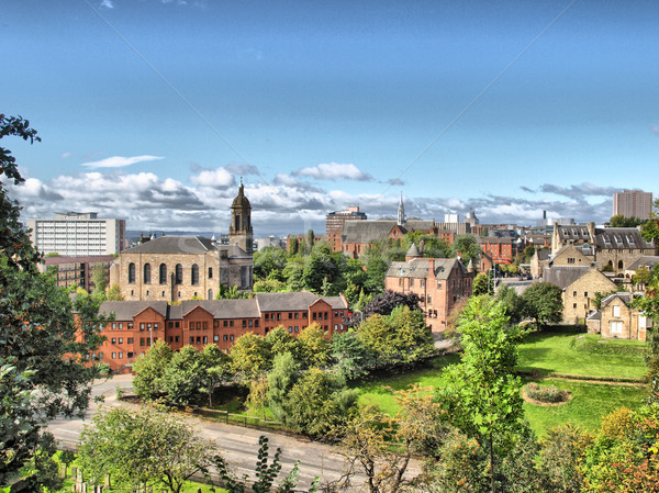 Glasgow hdr view città Scozia alto Foto d'archivio © claudiodivizia