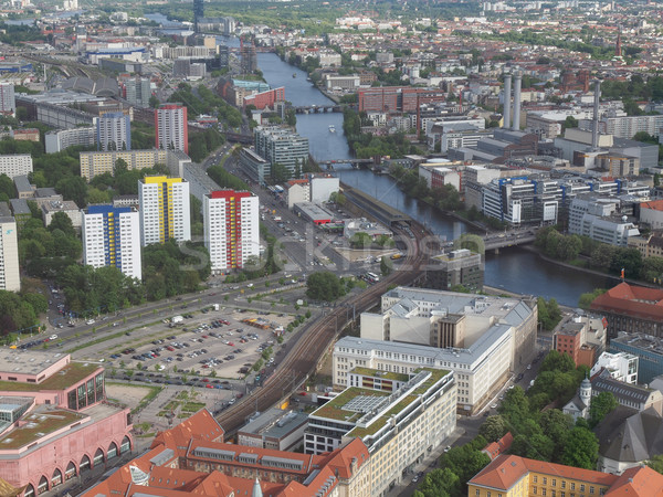 Berlin aerial view Stock photo © claudiodivizia