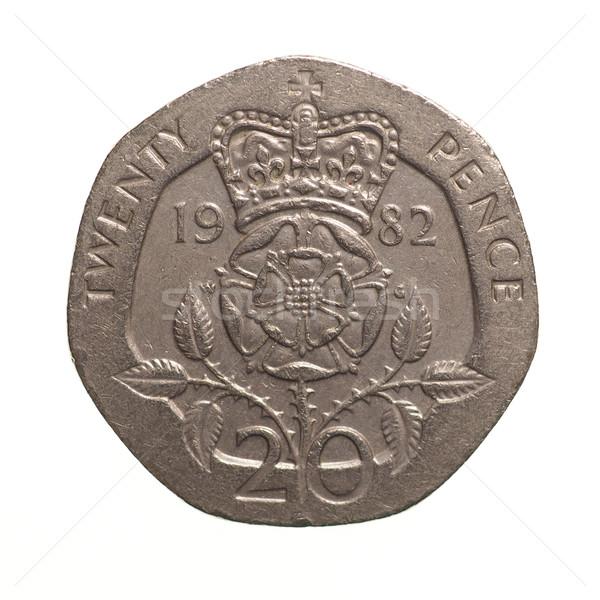 Vinte moeda libra 20 moeda Reino Unido Foto stock © claudiodivizia