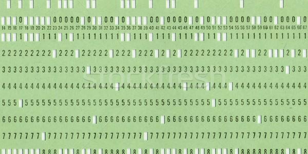 Lyukasztott kártya klasszikus számítógép adattárolás retro Stock fotó © claudiodivizia