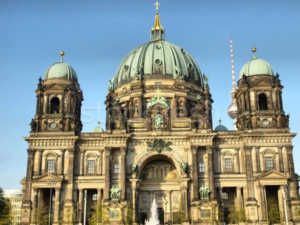 Katedrális templom Berlin Németország magas dinamikus Stock fotó © claudiodivizia
