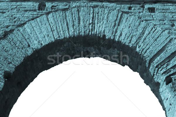 Romana arch isolato bianco copia spazio cool Foto d'archivio © claudiodivizia