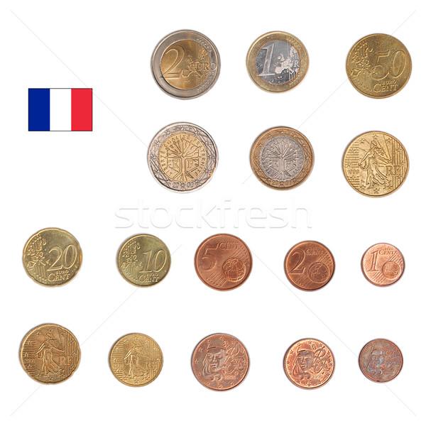 Foto stock: Euro · moeda · França · moedas · tanto · internacional