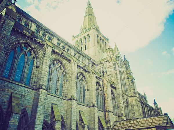 Retro guardando Glasgow cattedrale vintage guardare Foto d'archivio © claudiodivizia